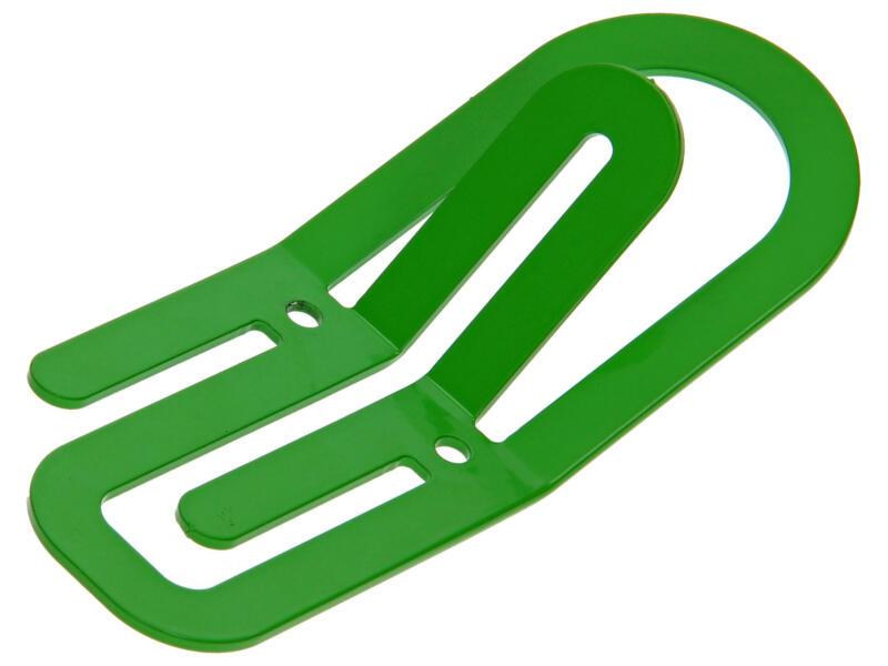 Clip kledinghaak 2 haken groen