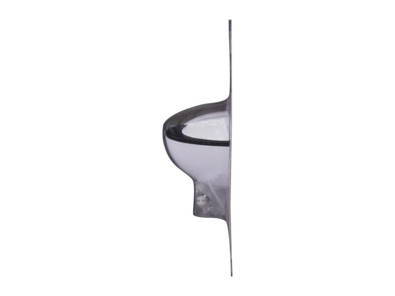 Clip mini 4-20 mm blanc 2 pièces