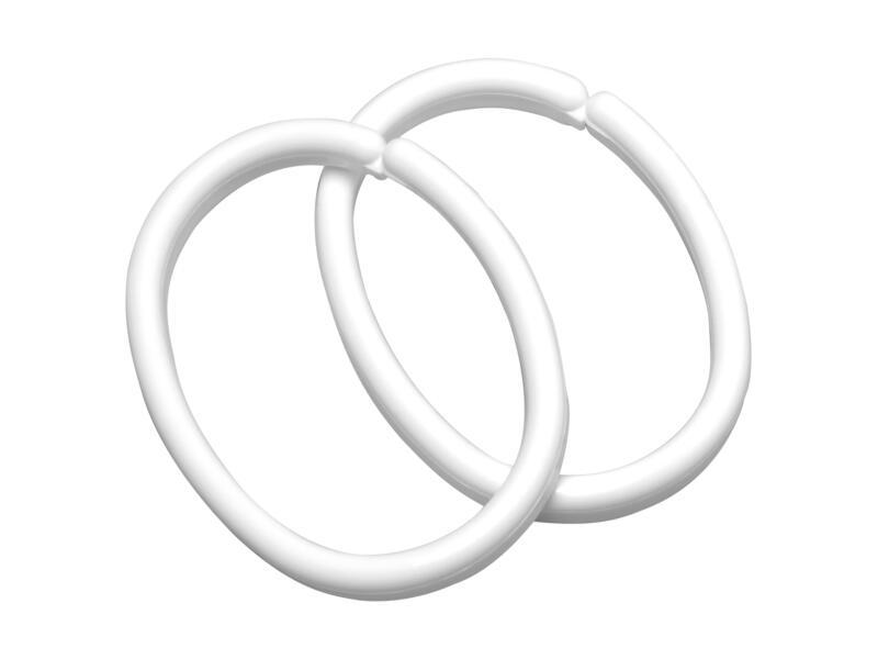 Sealskin Clips douchegordijnringen 12 stuks wit