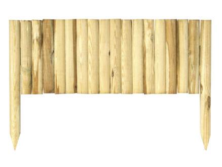 Clôture de bordure 90x35 cm brun