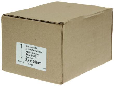 Clous à tête plate 2,7x50 mm 5kg
