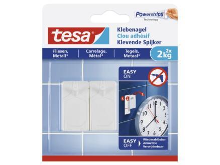 Tesa Clous adhésifs pour carrelage & métal 2kg 2 pièces