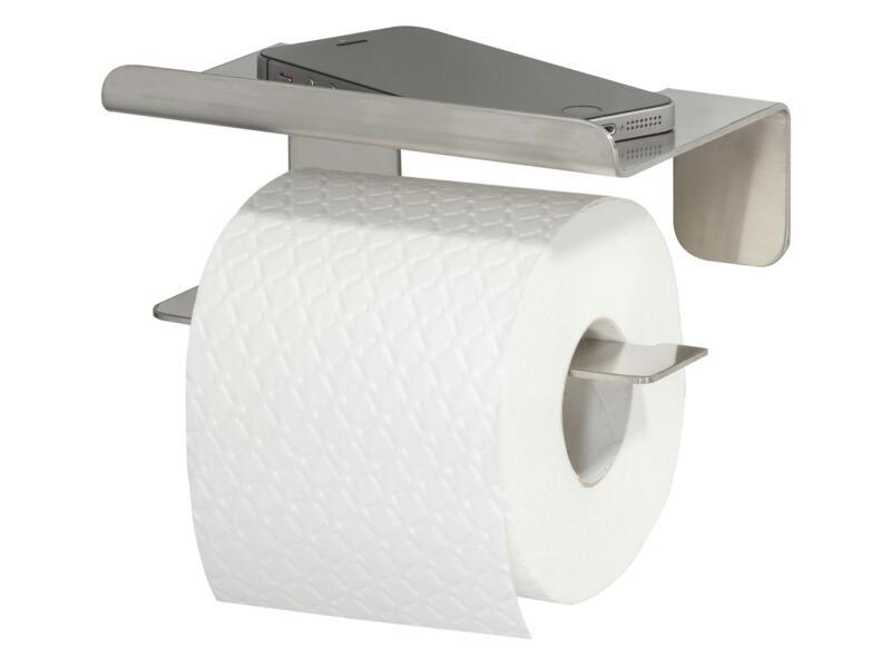 Tiger Colar porte-papier toilette avec tablette inox brossé