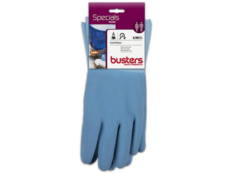 Busters Cold Water gants de travail M latex bleu
