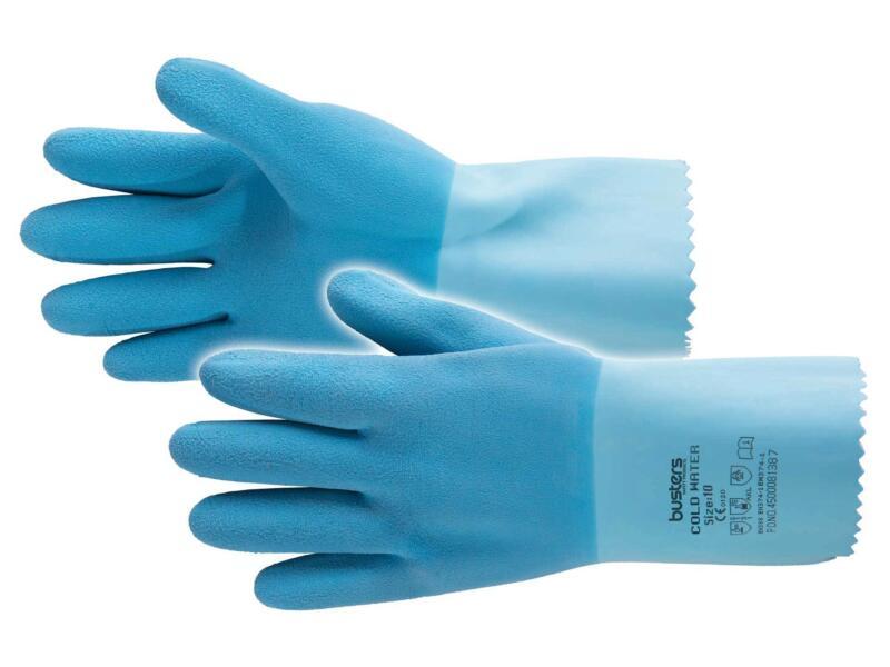 Busters Cold Water werkhandschoenen L/XL latex blauw