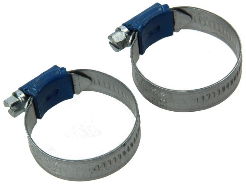 Collier de serrage galvanisé 26x38 mm 2 pièces