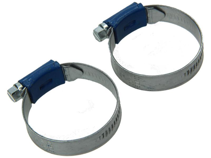 Collier de serrage galvanisé 32x44 mm 2 pièces