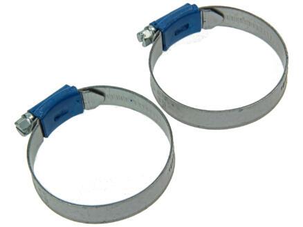 Collier de serrage galvanisé 44x56 mm 2 pièces