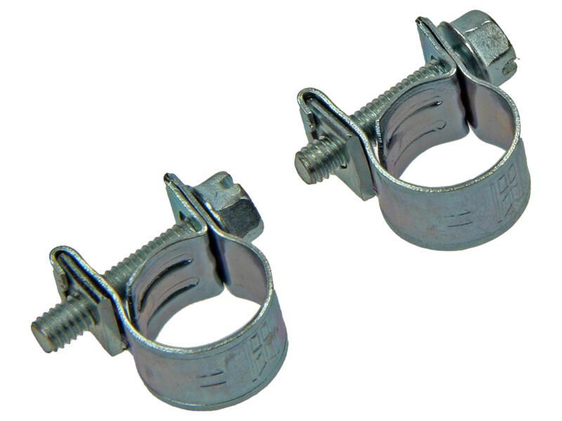 Collier de serrage zingué 10x12 mm 2 pièces
