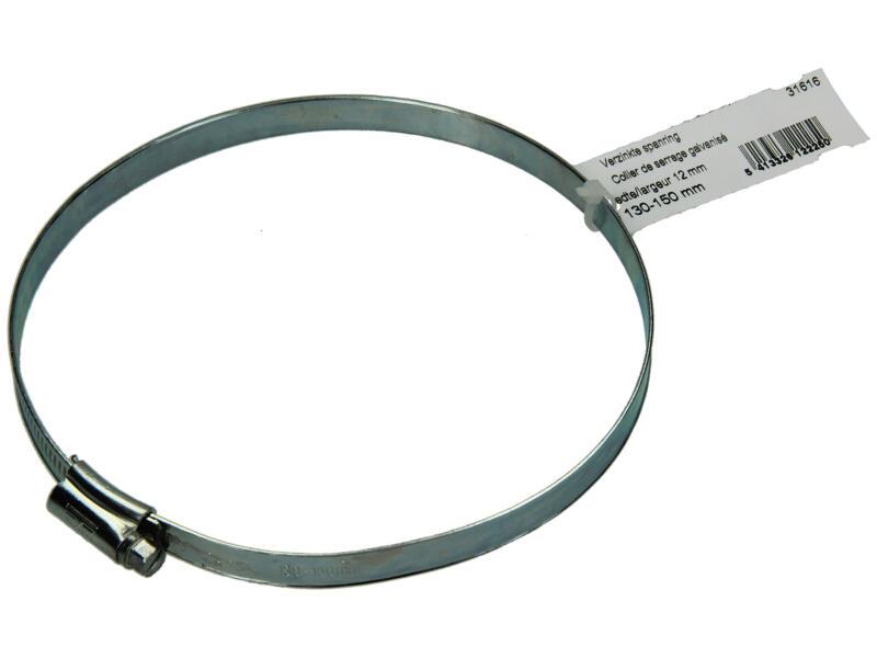 Collier de serrage zingué 130x150 mm