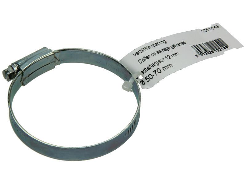 Collier de serrage zingué 50x70 mm