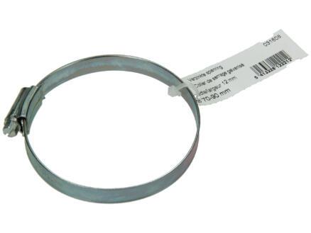 Collier de serrage zingué 70x90 mm