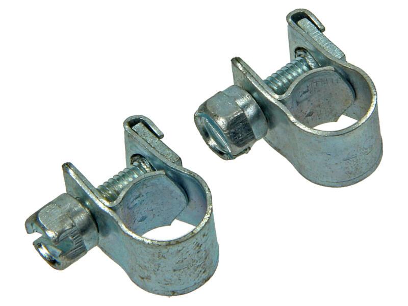 Collier de serrage zingué 7x9 mm 2 pièces