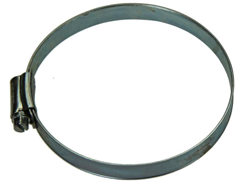 Collier de serrage zingué 80x100 mm