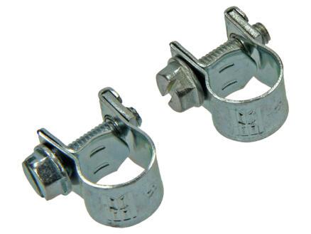 Collier de serrage zingué 8x10 mm 2 pièces
