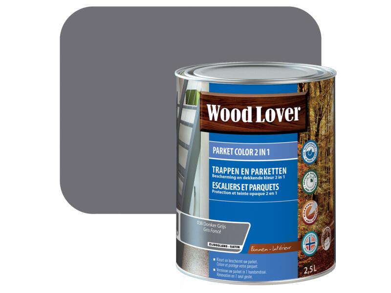 Wood Lover Color 2-in-1 parket 2,5l donker grijs #038