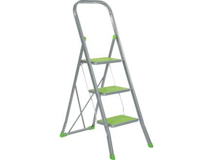 Escalo Color Step escabeau de ménage 3 marches vert