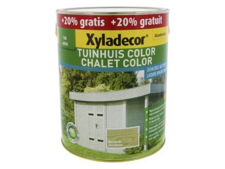 Xyladecor Color houtbeits tuinhuis 2,5l + 0,5l nevelgrijs