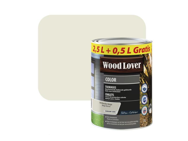 Wood Lover Color houtbeits tuinhuis 3l rendier beige #540