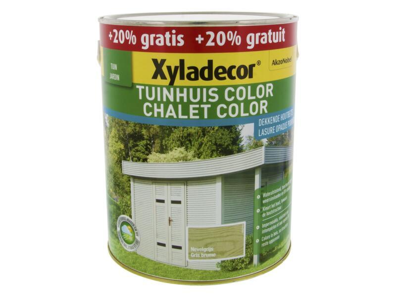 Xyladecor Color lasure bois chalet 2,5l + 0,5l gris brume