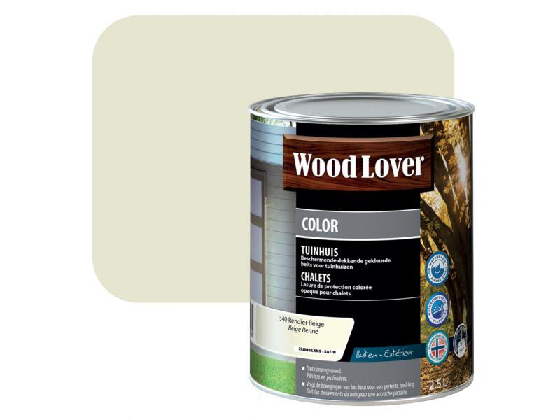 Wood Lover Color lasure bois chalet 2,5l beige renne #540