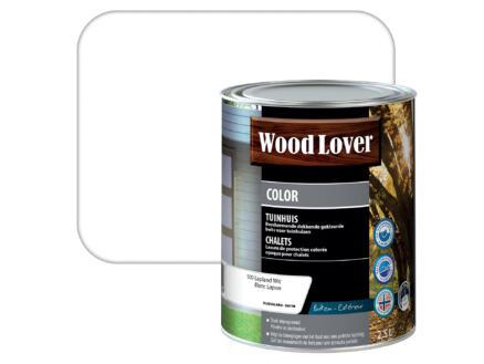 Wood Lover Color lasure bois chalet 2,5l blanc Lapon #500