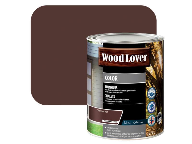Wood Lover Color lasure bois chalet 2,5l chocolat