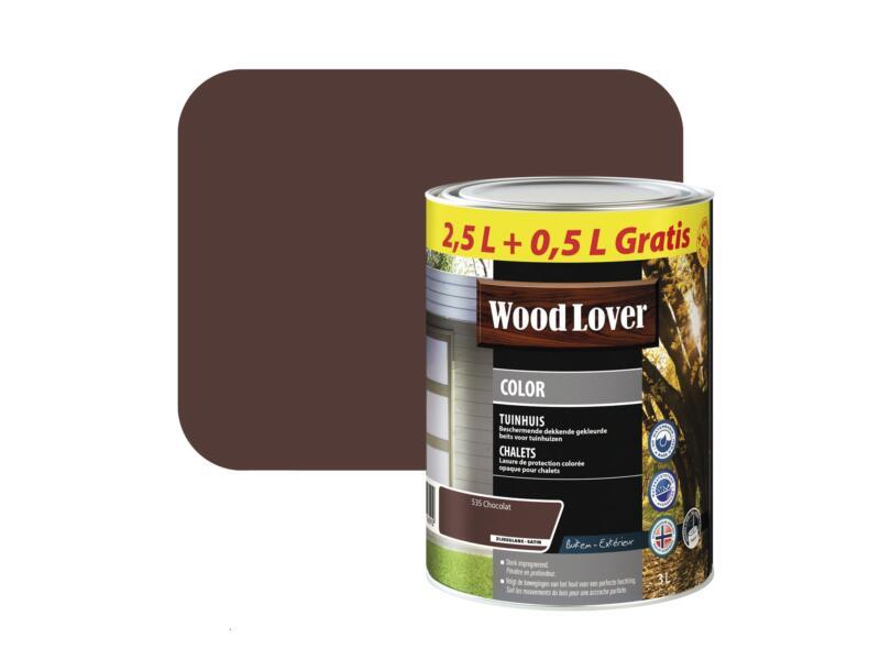 Wood Lover Color lasure bois chalet 3l chocolat #535