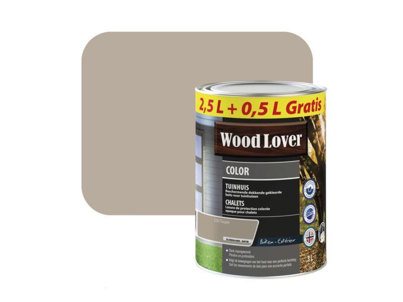 Wood Lover Color lasure bois chalet 3l taupe #530