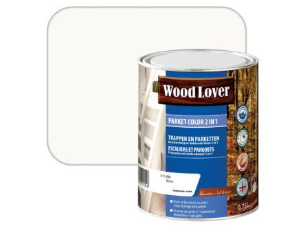 Wood Lover Color parquet 2-en-1 0,75l blanc #015