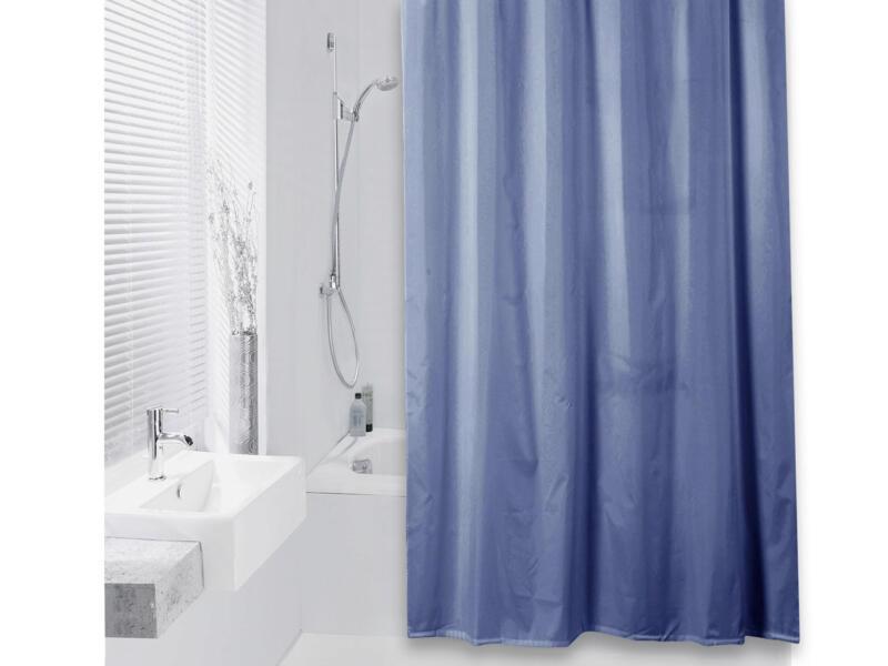 Differnz Color rideau de douche 180x200 cm bleu