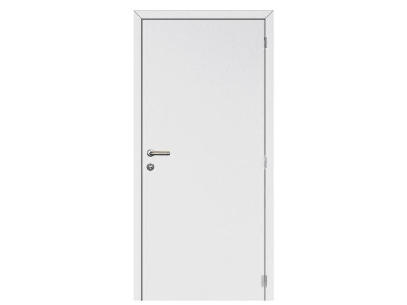 Solid Colore porte intérieure coupe-feu serrure 3 points 201x78 cm prépeint