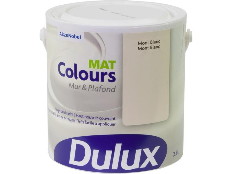 Dulux Colours peinture mur & plafond mat 2,5l Mont Blanc
