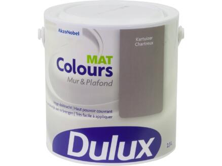 Dulux Colours peinture mur & plafond mat 2,5l chartreux