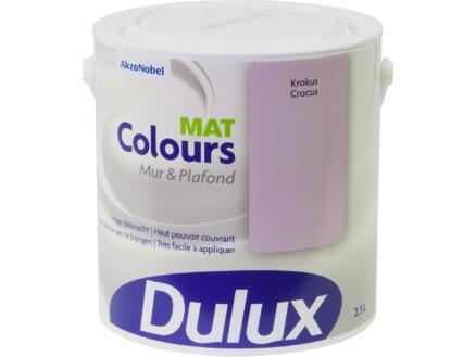 Dulux Colours peinture mur & plafond mat 2,5l crocus