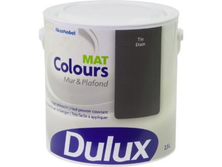 Dulux Colours peinture mur & plafond mat 2,5l étain