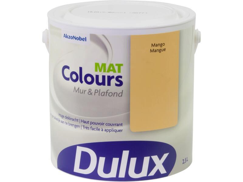 Dulux Colours peinture mur & plafond mat 2,5l mangue