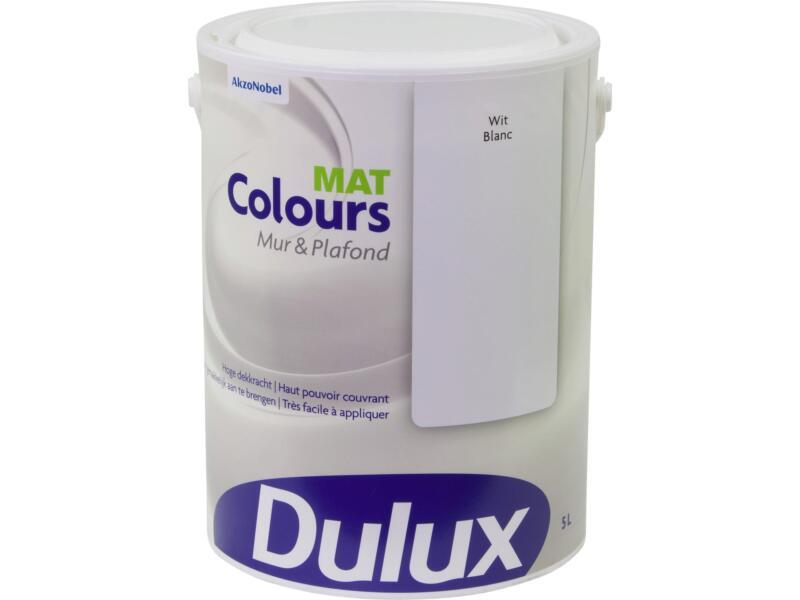 Dulux Colours Peinture Mur Plafond Mat 5l Blanc Hubo