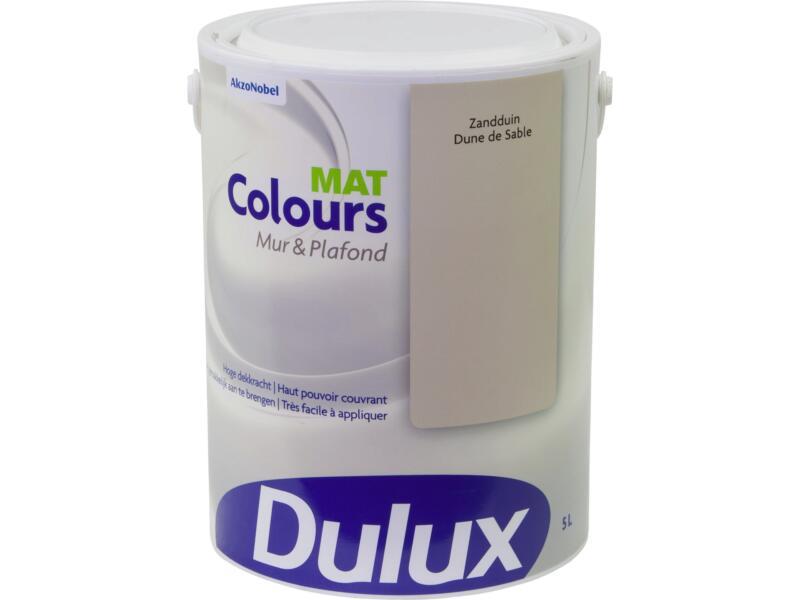 Dulux Colours peinture mur & plafond mat 5l dune sable