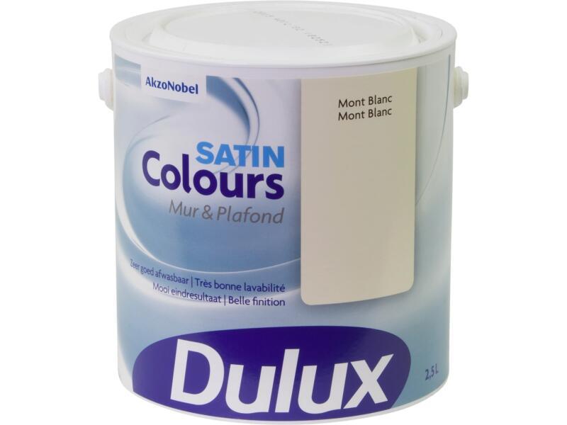 Dulux Colours peinture mur & plafond satin 2,5l Mont Blanc