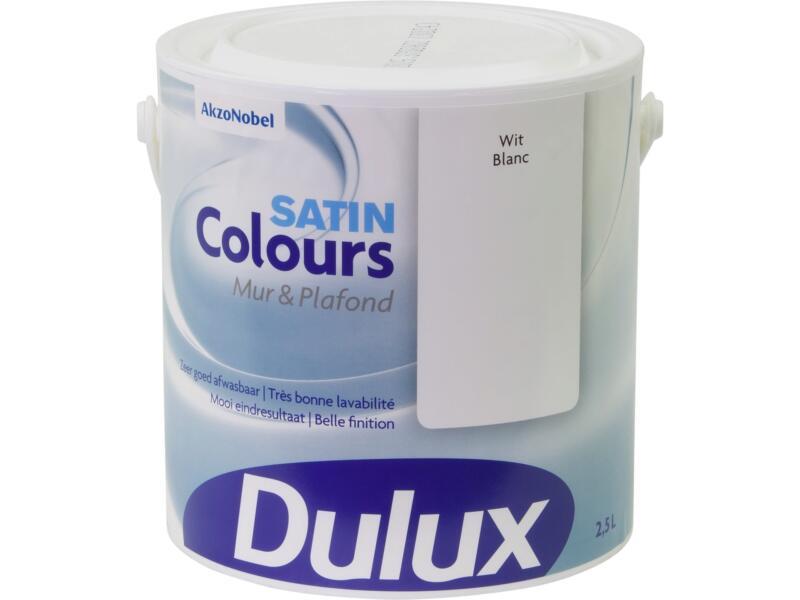 Dulux Colours peinture mur & plafond satin 2,5l blanc
