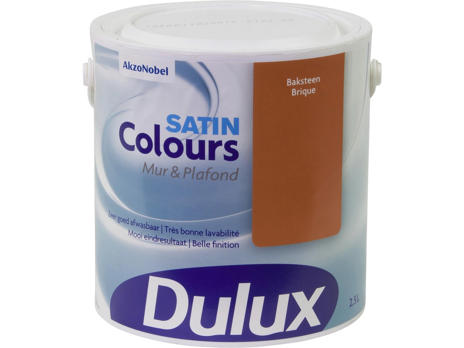 Peindre Un Mur De Brique dulux colours peinture mur & plafond satin 2,5l brique