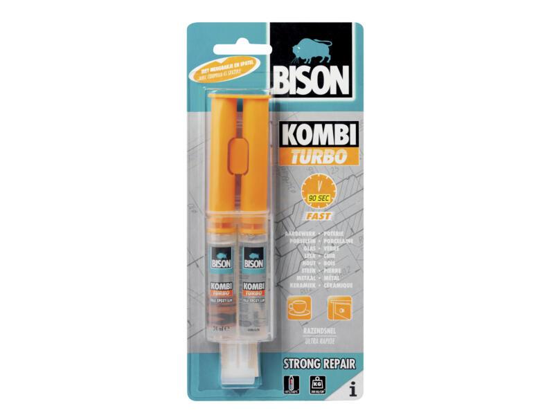 Bison Combi Turbo colle bi-composant 2x12 ml transparent
