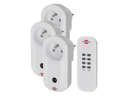 Brennenstuhl Comfort-Line RC CE1 3001 3 prises sans fil 1000W avec télécommande blanc