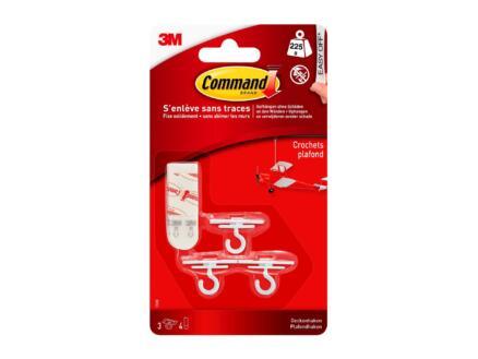 3M Command 17008 crochet plafond 1,9cm 0,225kg  blanc 3 pièces