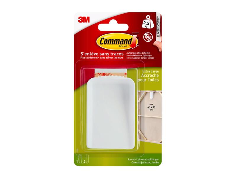 3M Command 17045 attache-toile 8,5cm 2,2kg blanc