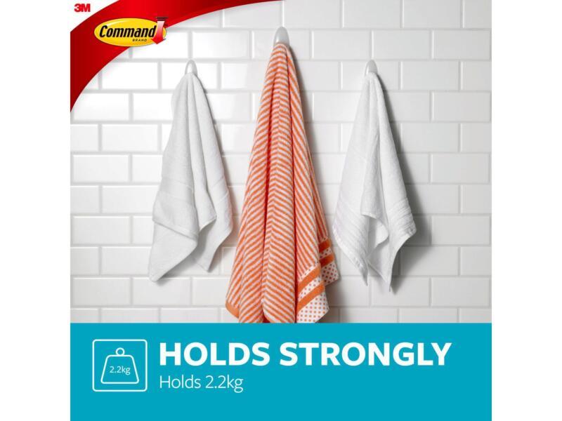 3M Command BATH17 crochet de bain pour serviettes 11,4cm 2,2kg blanc