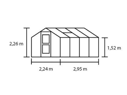 Juliana Compact 66 serre polycarbonaat antraciet