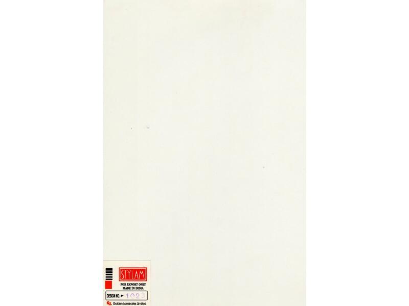 Compactplaat 305x130 cm 6mm crème