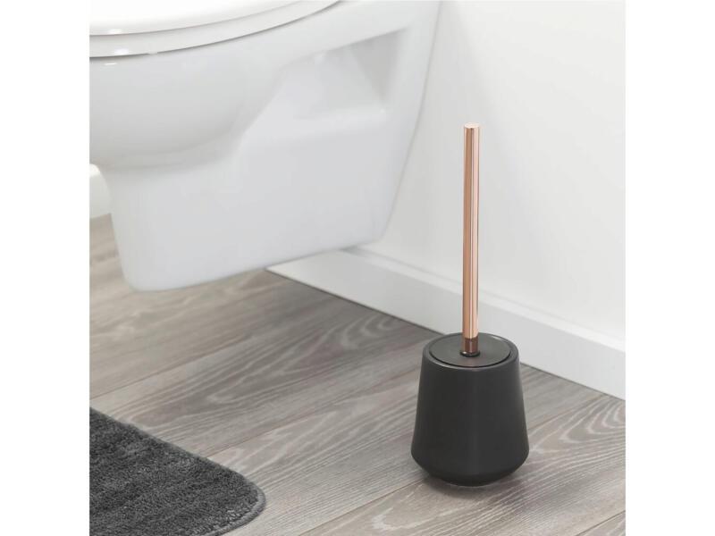 Sealskin Conical WC-borstel met houder vrijstaand porselein zwart